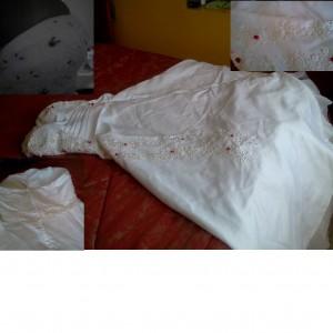 vestido de novia straplees