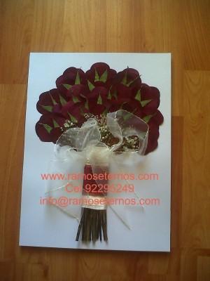 conservacion de ramos de flore, ramos de novia, rosas azules, rosas rojas,