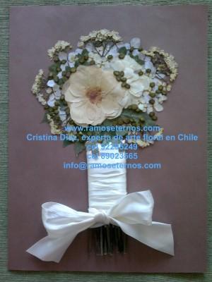 conservacion de ramos de flores, ramos de novia, las condes, cristina diaz