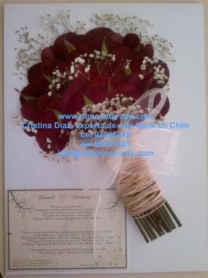 novias de chile, exclusivo conservacion de flores en chile, ramos de novias