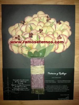 prensado  enmarcado conservacion ramos de novia en chile