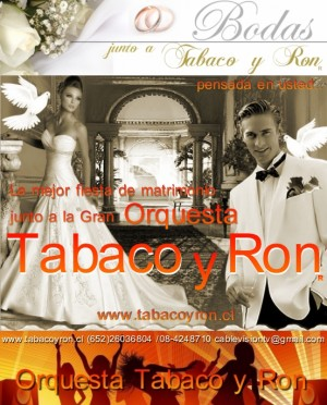 orquesta tabaco y ron matrimonios, eventos matrimonios