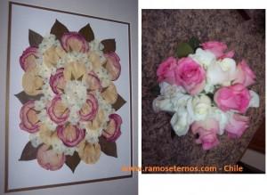 enmarcacion de rosas con amor rosas linda ramoseternos concepcion