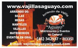 arriendo de vajillas http://www.vajillasaguayo.com