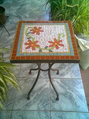 mesas de mosaico - espejos con mosaicos . bandejas - arrimos mosaico ...