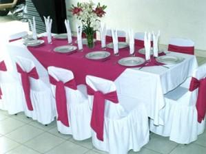 fundas de sillas y manteleria para eventos