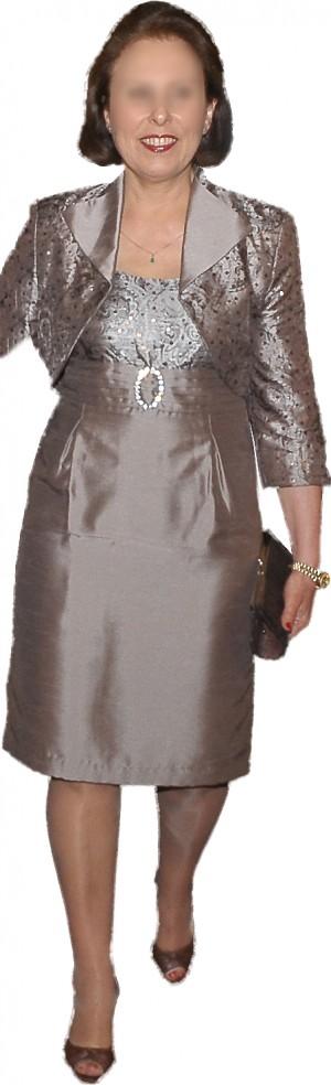vendo elegante vestido de madrina de matrimonio