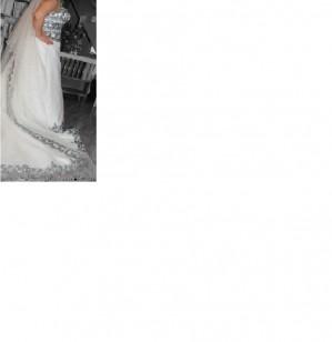 vendo hermoso vestido de novia usado bordado en gasa
