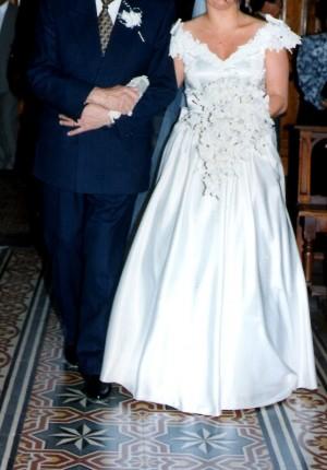 vestido de novia excelente completisimo color ivory