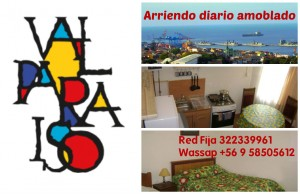 estadía en valparaiso, arriendo amoblado diario, fono 322339961