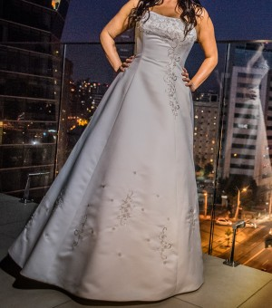 vestido de novia elegante y cÓmodo