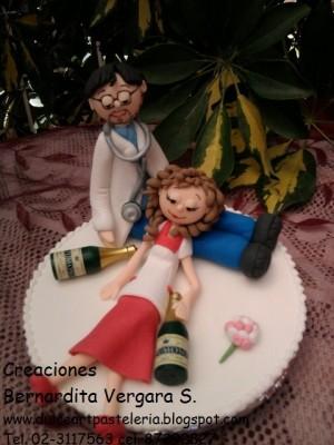 adornos para tortas de novios  en azucar