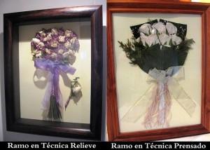 secado y enmarcado de ramos de novia
