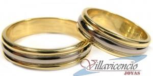 argollas de matrimonio bicolor oro blanco oro amarillo mod. frances novios
