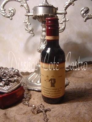 vinos personalizados  $1.490 ideal para matrimonios