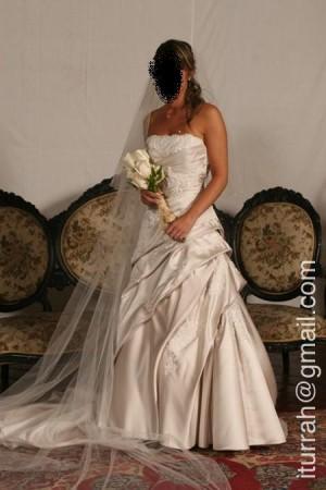 vendo vestido de novia usado, coleccion pronovia (españa) 2008
