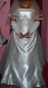 vestido de novia color marfil
